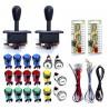 Kit LED 2 jugadores Joystick Compacto IL + 18 botones + Zero Delay USB