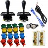 Kit 2 jugadores Eurojoystick 2 IL + 18 botones + Interfaz USB