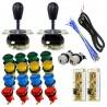 Kit Joysticks Magnéticos IL 2 jugadores + 18 botones + Interfaz USB